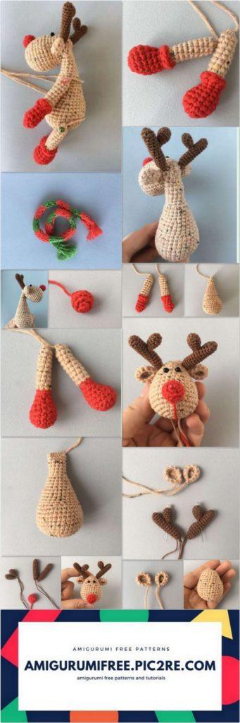 Amigurumi Christmas Reindeer Free Crochet Pattern | Noël crochet ... | 1024x341