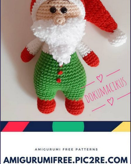 Christmas Doll crochet pattern - Amigurumi Today | 560x448