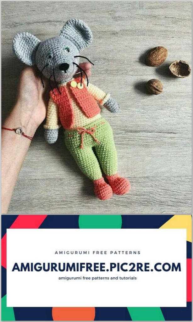 Crochet Mouse PATTERN Amigurumi tutorial BIG Mouse toy easy ... | 1024x614