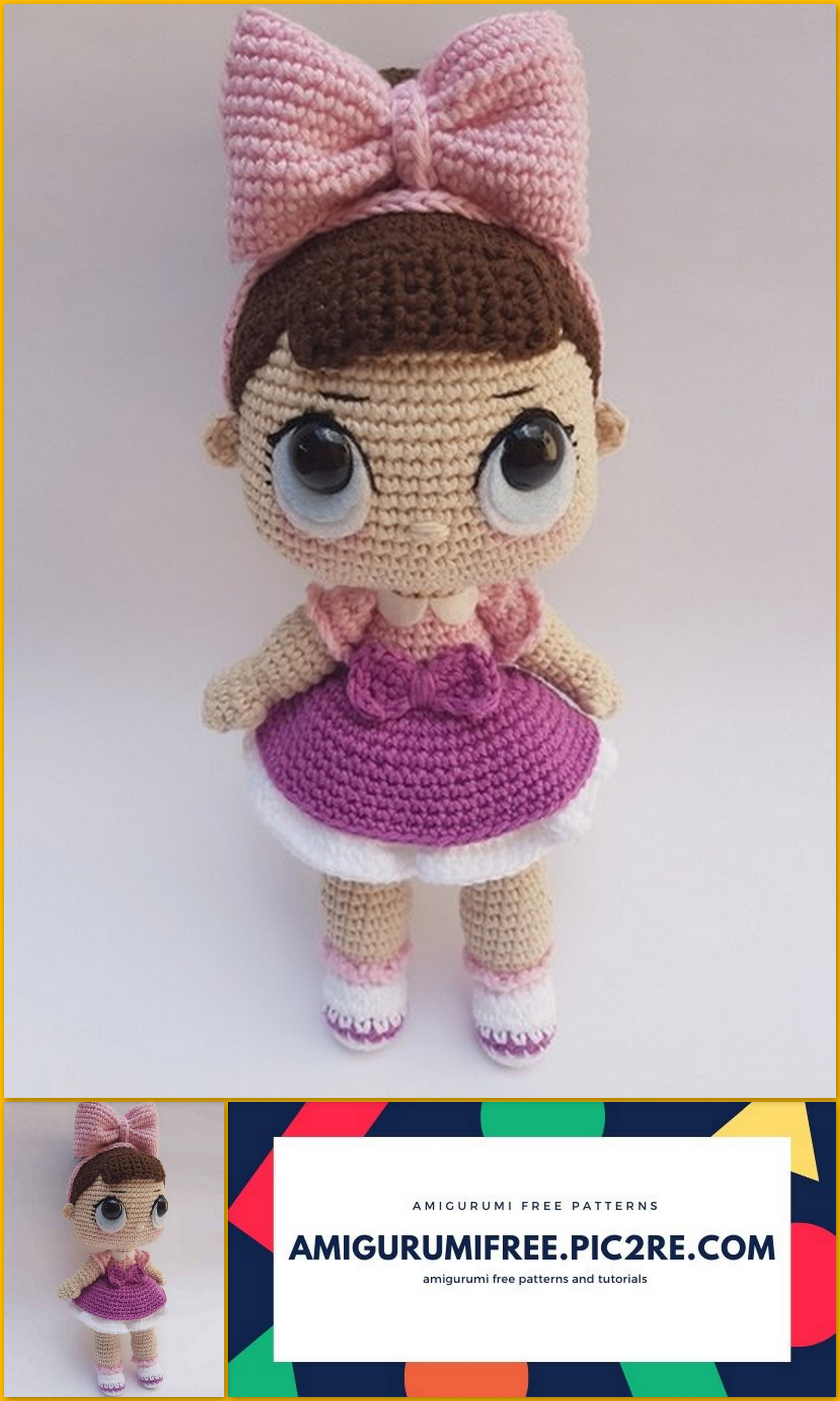 Anime Crochet Doll | Crochet dolls, Crochet doll, Knitted dolls | 5120x3072