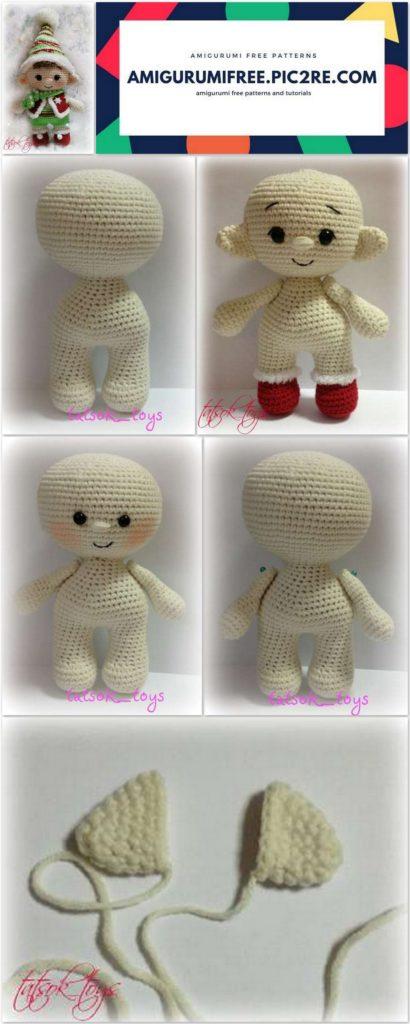 Easy Crochet Elf Ornament [FREE Amigurumi Pattern+Tutorials] | 1024x410