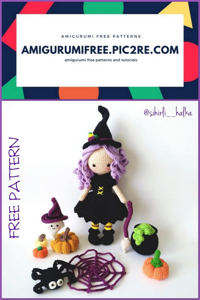 Free free Halloween witch crochet patterns Patterns ⋆ Knitting Bee (4 free  knitting patterns) | 1024x683