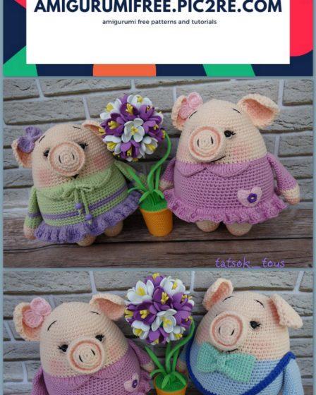 Cute Pigs Amigurumi FREE - Pattern Center | 560x448