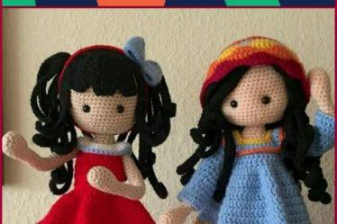 Cute Amigurumi Dolls Free Crochet Patterns | 249x374