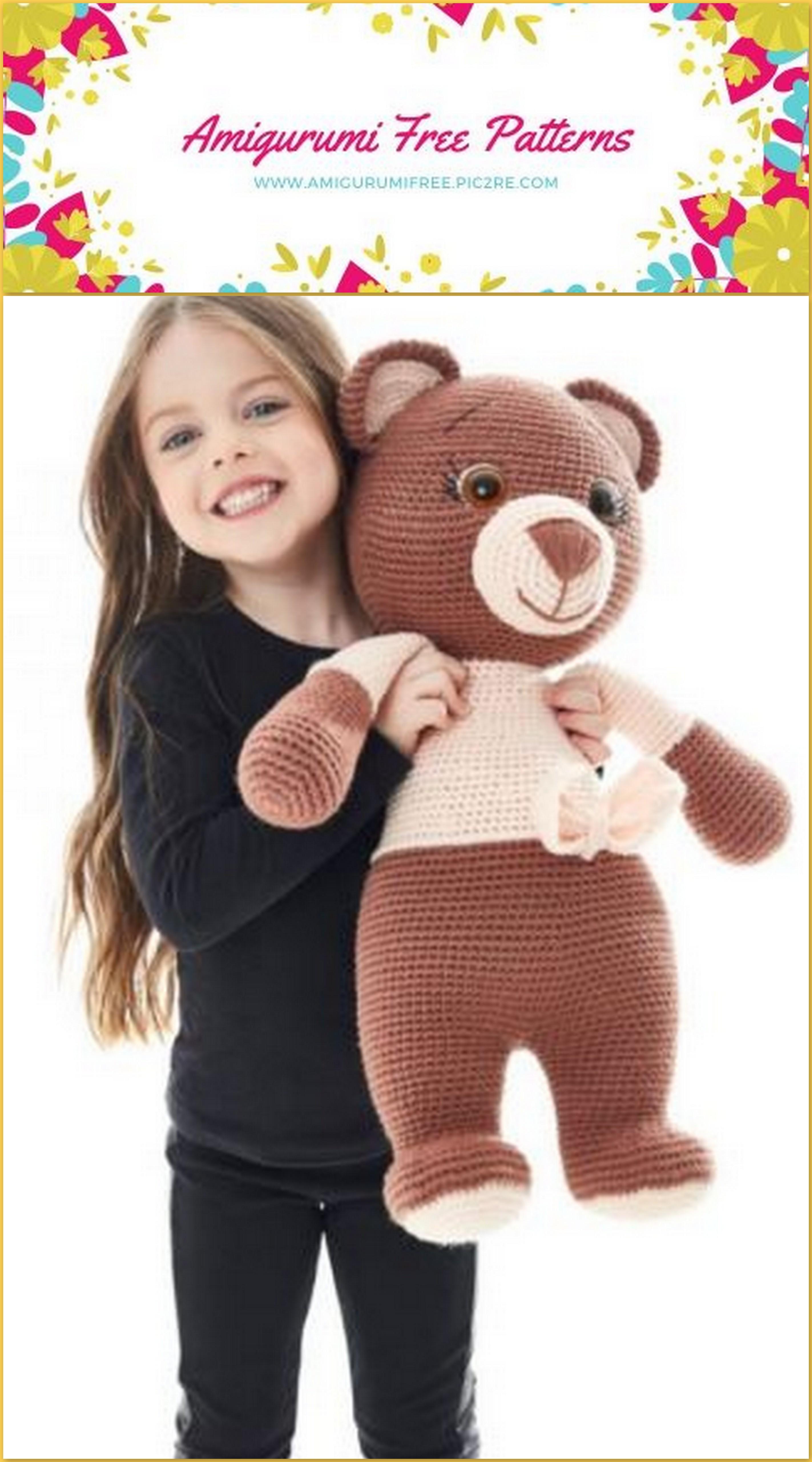 Bear In Sweater | Häkeln spielzeug muster, Kostenlos amigurumi ... | 5120x2845